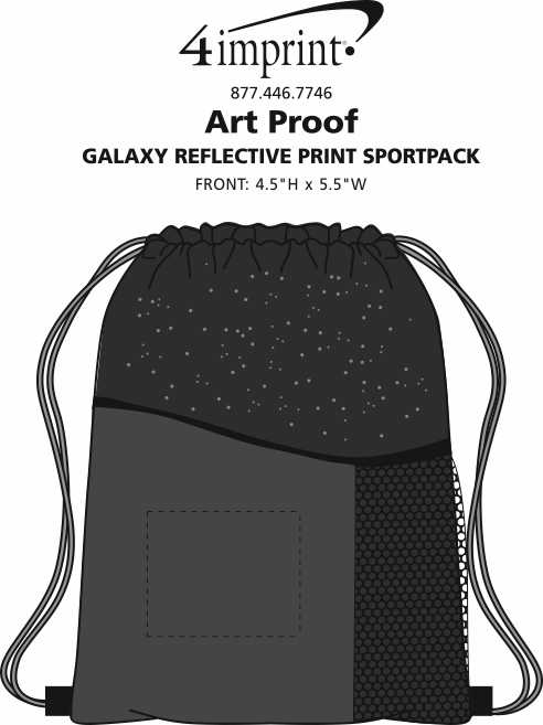 Imprint Area of Galaxy Reflective Print Sportpack