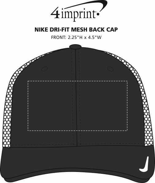 Imprint Area of Nike Dri-FIT Mesh Back Cap