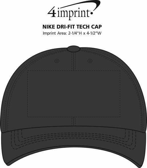 Imprint Area of Nike Dri-FIT Tech Cap