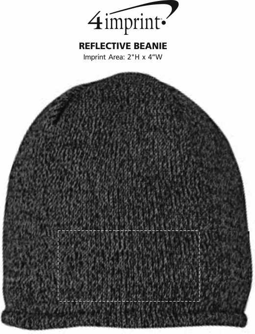 Imprint Area of Reflective Beanie