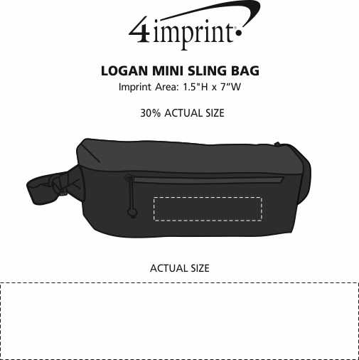 Imprint Area of Logan Mini Sling Bag