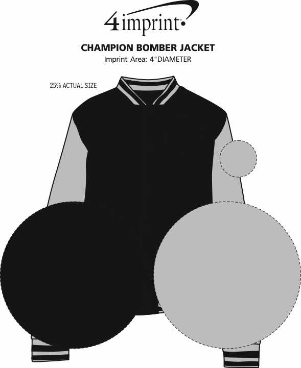 Imprint Area of Champion Bomber Jacket