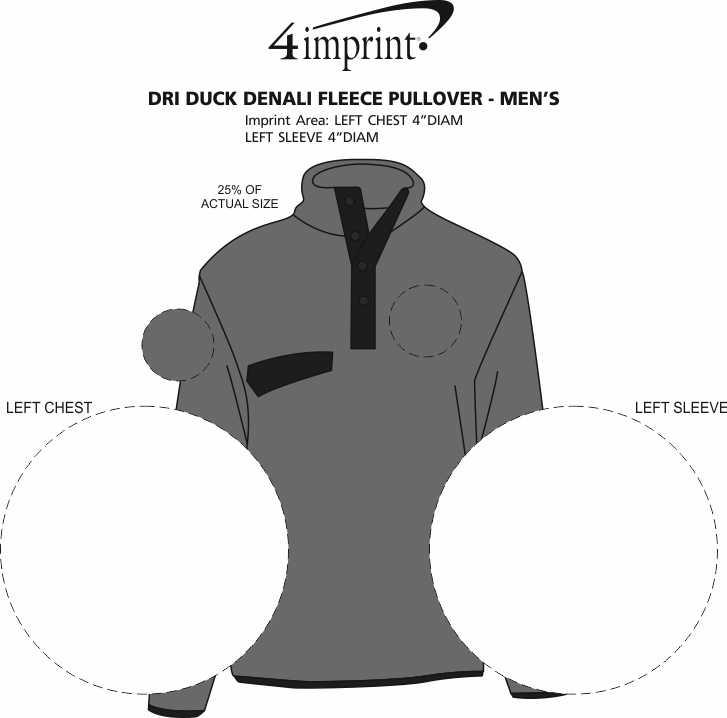 Imprint Area of DRI DUCK Denali Fleece Pullover - Men's