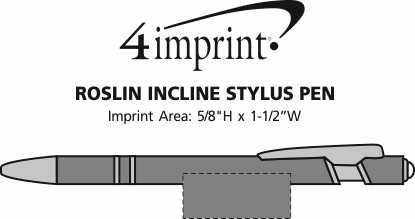 Imprint Area of Roslin Incline Stylus Pen