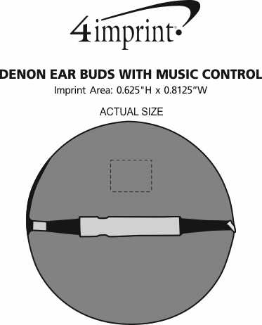Imprint Area of Denon Ear Buds with Music Control