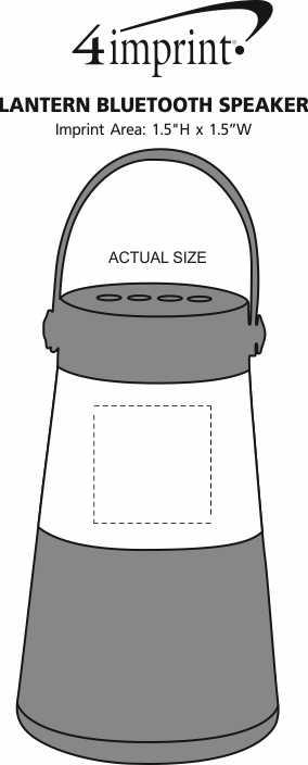 Imprint Area of Lantern Bluetooth Speaker