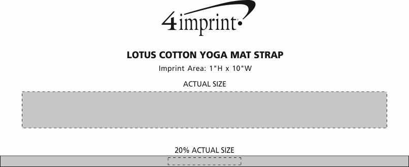 Imprint Area of Lotus Yoga Mat Strap