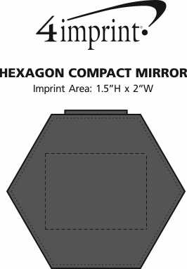 Imprint Area of Hexagon Compact Mirror