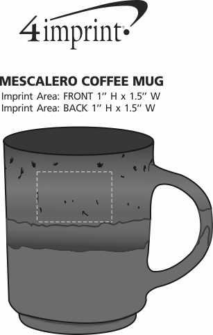 Imprint Area of Mescalero Coffee Mug - 15 oz.