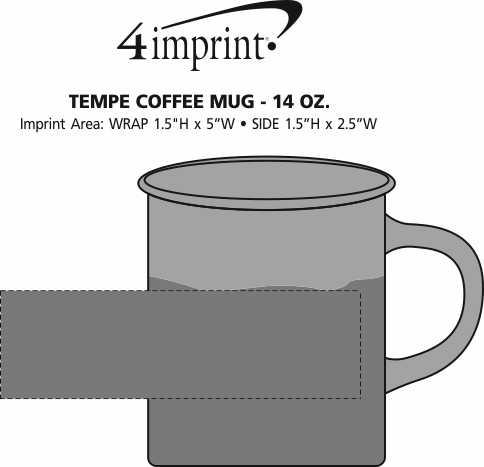Imprint Area of Tempe Coffee Mug - 14 oz.