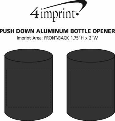 Imprint Area of Push Down Aluminum Bottle Opener