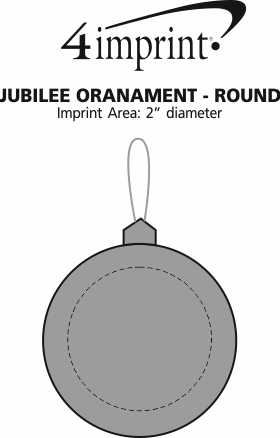 Imprint Area of Jubilee Ornament - Round