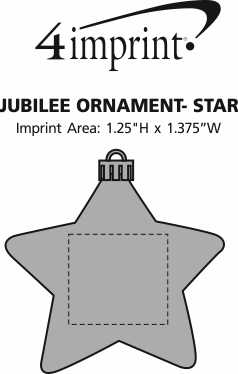 Imprint Area of Jubilee Ornament - Star