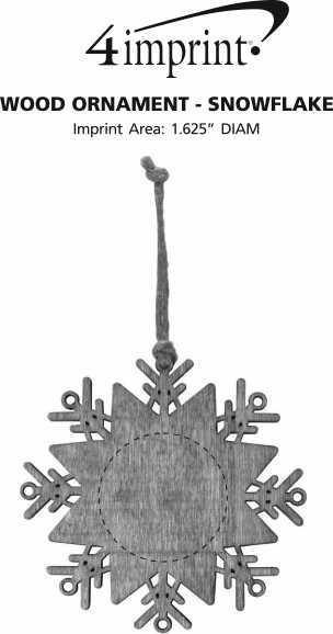 Imprint Area of Wood Ornament - Snowflake