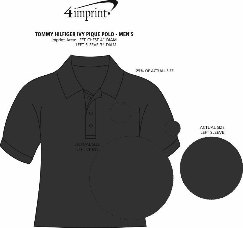 Imprint Area of Tommy Hilfiger Ivy Pique Polo - Men's