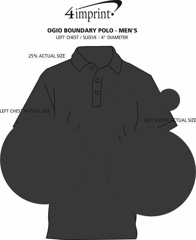 Imprint Area of OGIO Boundary Polo - Men's