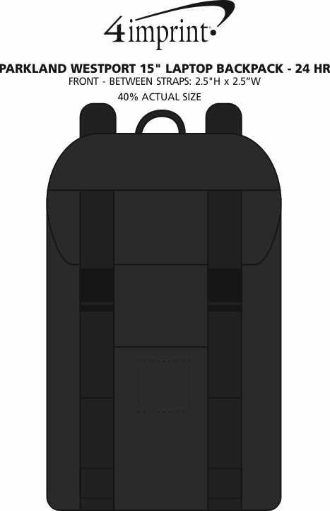 """Imprint Area of Parkland Westport 15"""" Laptop Backpack - 24 hr"""
