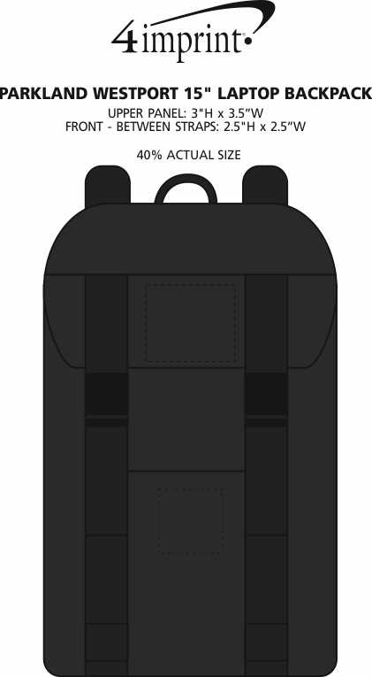"""Imprint Area of Parkland Westport 15"""" Laptop Backpack"""