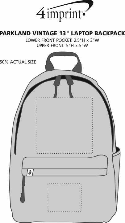 """Imprint Area of Parkland Vintage 13"""" Laptop Backpack"""