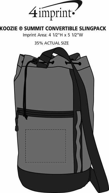 Imprint Area of Koozie® Summit Convertible Slingpack