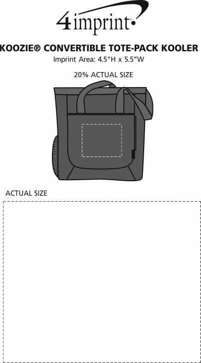 Imprint Area of Koozie® Convertible Tote-Pack Kooler