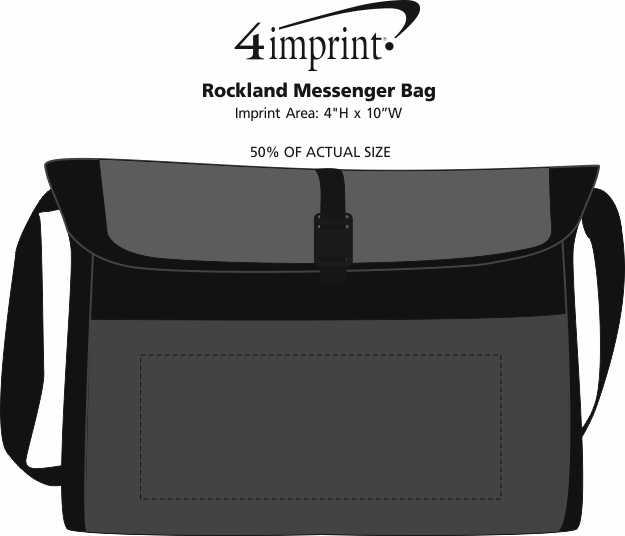 Imprint Area of Rockland Messenger Bag