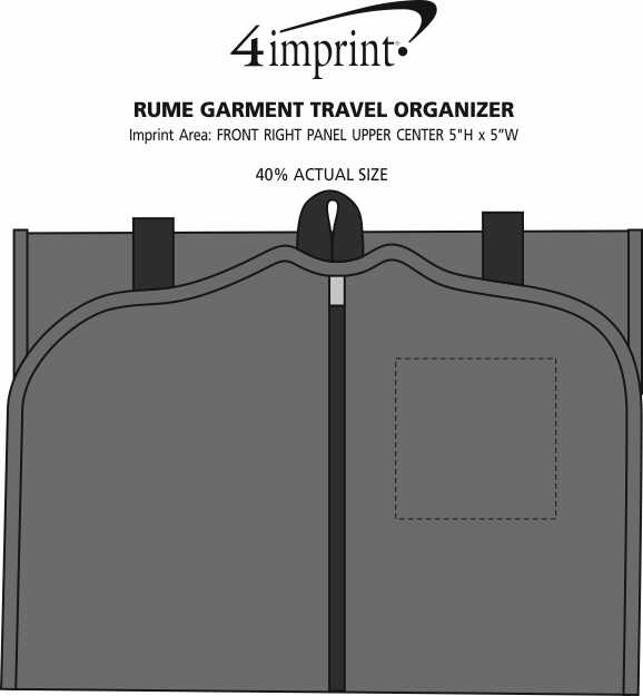 Imprint Area of RuMe Garment Travel Organizer