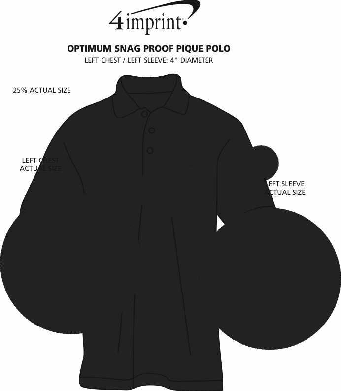 Imprint Area of Optimum Snag Proof Pique Polo