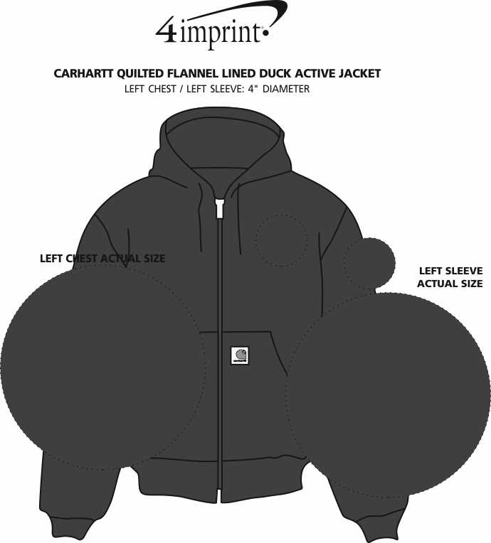 Imprint Area of Carhartt Quilted Flannel Lined Duck Active Jacket