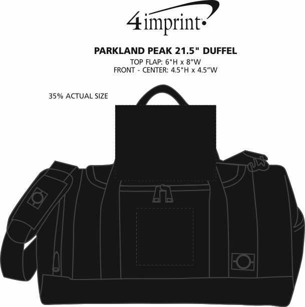 """Imprint Area of Parkland Peak 21.5"""" Duffel"""
