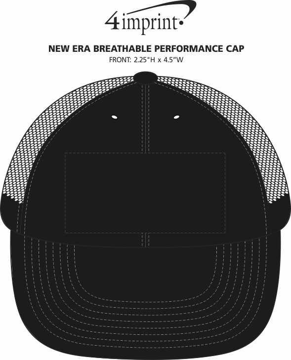 Imprint Area of New Era Breathable Performance Cap