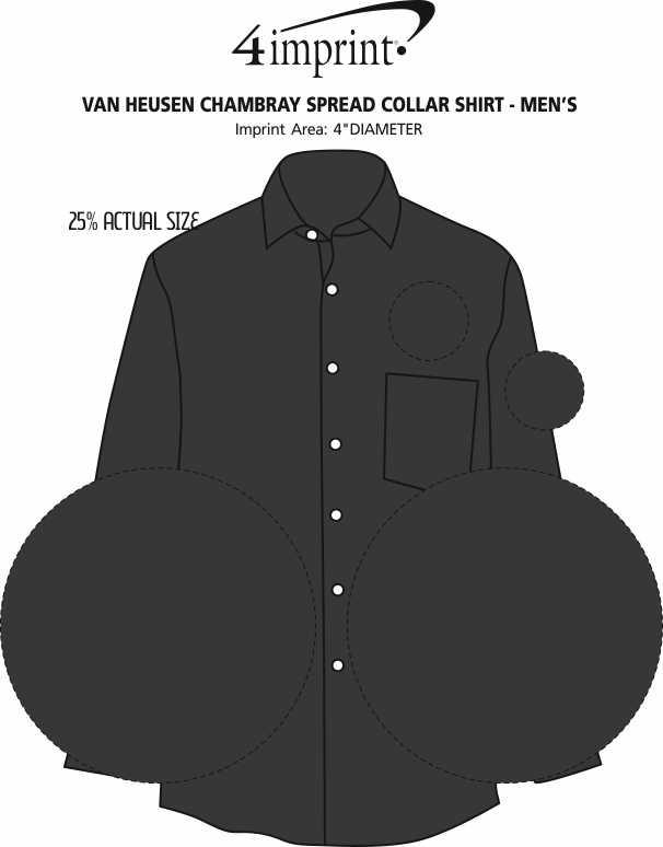 Imprint Area of Van Heusen Chambray Spread Collar Shirt - Men's