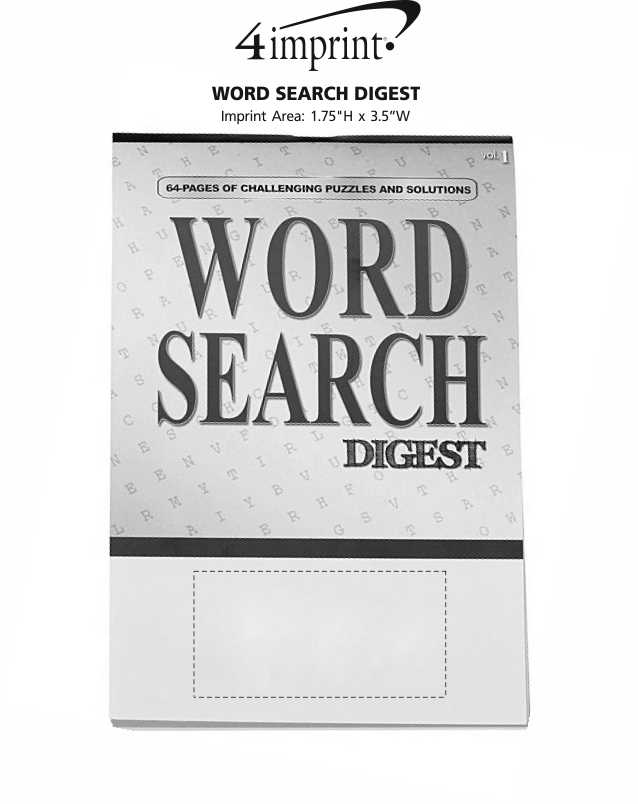 Imprint Area of Word Search Digest