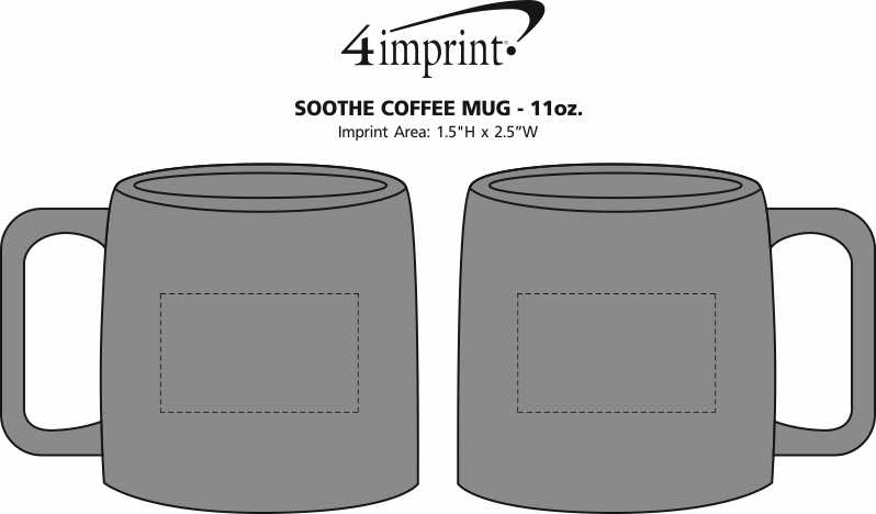 Imprint Area of Soothe Coffee Mug - 11 oz.