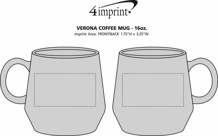 Imprint Area of Verona Coffee Mug - 16 oz.