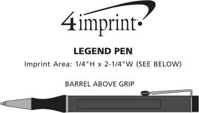 Imprint Area of Legend Twist Metal Pen
