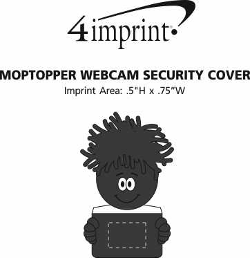 Imprint Area of MopTopper Webcam Security Cover
