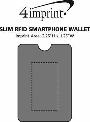 Imprint Area of Slim RFID Smartphone Wallet