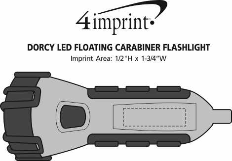 Imprint Area of Dorcy LED Floating Carabiner Flashlight