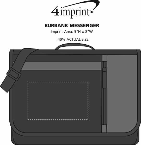 Imprint Area of Burbank Messenger