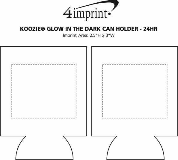 Imprint Area of Koozie® Glow in the Dark Can Holder - 24 hr
