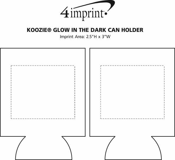 Imprint Area of Koozie® Glow in the Dark Can Holder