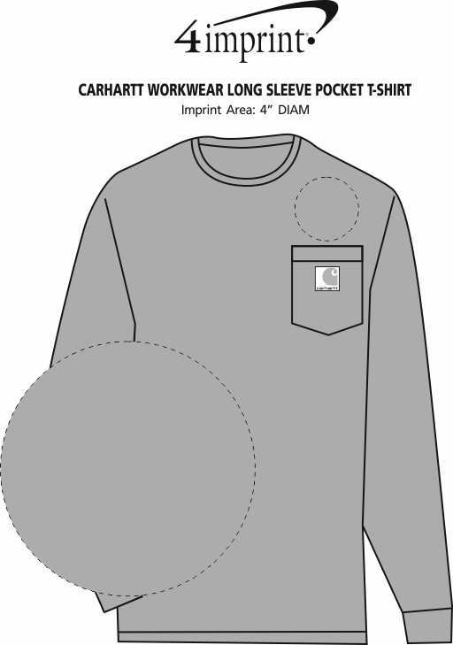 Imprint Area of Carhartt Workwear Long Sleeve Pocket T-Shirt