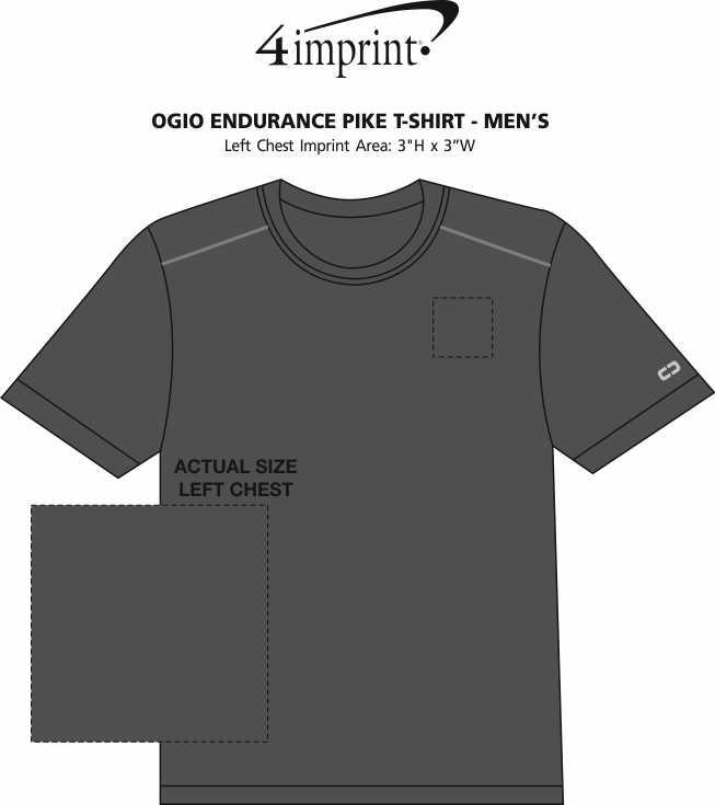 Imprint Area of OGIO Endurance Pike T-Shirt - Men's