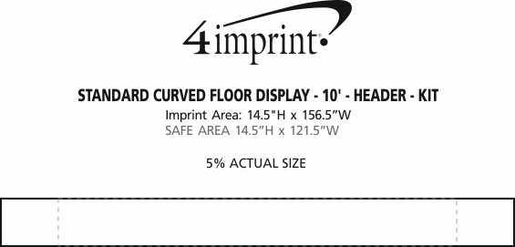 Imprint Area of Standard Curved Floor Display - 10' - Header - Kit
