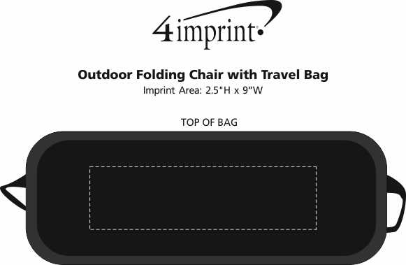 Imprint Area of Outdoor Folding Chair with Travel Bag