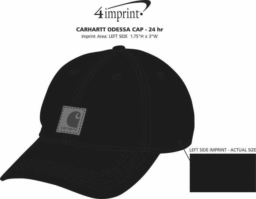 Imprint Area of Carhartt Odessa Cap - 24 hr