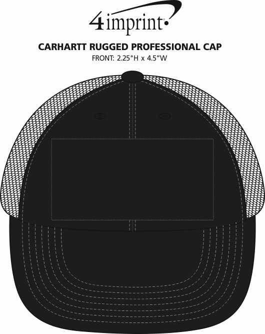 Imprint Area of Carhartt Rugged Professional Cap