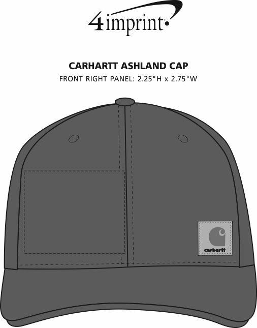 Imprint Area of Carhartt Ashland Cap