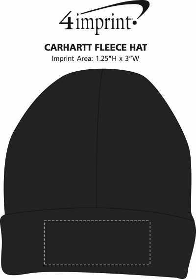 Imprint Area of Carhartt Fleece Hat